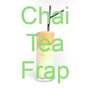 low carb chai tea frap