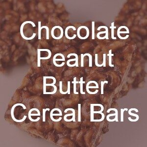 Chocolate Peanut Butter Cereal Bars recipe
